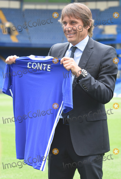 Antonio Conte Photo - London, UK. Antonio Conte is introduced as the new manager of Chelsea Football Club. 14th July 2016. Ref: LMK326-60850-150716. Matt Lewis/Landmark Media. WWW.LMKMEDIA.COM.