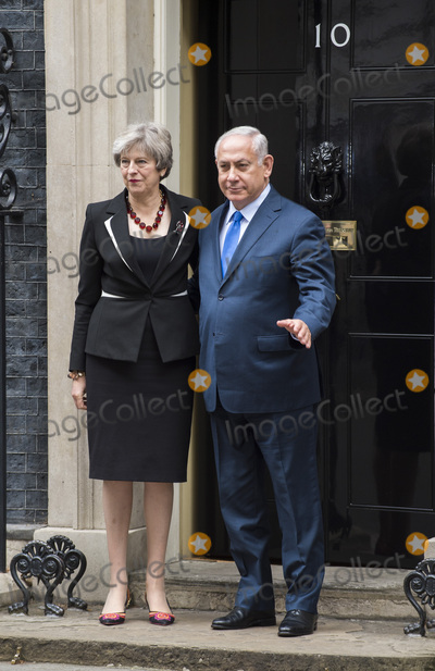 Benjamin Netanyahu, Theresa May, Gary Mitchell Photo - London, UK.  Britain's Prime Minister Theresa May greets the Prime Minister of Israel Benjamin Netanyahu in Downing Street on November 2, 2017 in London, England.