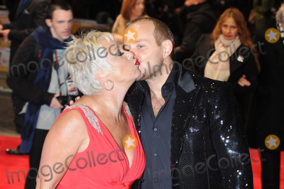 Denise Welch Photo - London, UK. Denise Welch and Lincoln Townley at the Run For Your Wife UK Premiere, held at the Odeon Leicester Square. 5th February 2013.Matt Lewis/Landmark Media