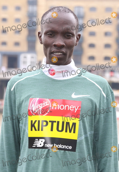 Abraham Kiptum Photo - London, UK. Abraham Kiptum at Elite Runners Photocall for the London Marathon 2019 outside the Tower Hotel Race HQ on April 24th 2019Ref: LMK73-4803-250419Keith Mayhew/Landmark MediaWWW.LMKMEDIA.COM