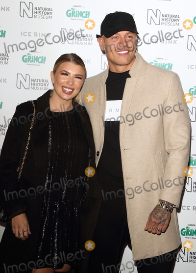 Olivia Buckland, Alex Bowen Photo - London, UK. Alex Bowen and Olivia Buckland at Natural History Museum Ice Rink Launch Party at the Natural History Museum, Cromwell Road, London on Wednesday 24 October 2018