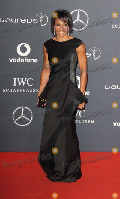 Elizabeth II, Kelly Holmes, Queen, Queen Elizabeth, Queen Elizabeth II, Queen Elizabeth\ Photo - London. UK.  Dame Kelly Holmes      at the Laureus World Sports Awards held at the Queen Elizabeth II Centre, Westminster, London, 6th February  2012,   Keith Mayhew/Landmark Media  EXCEPT GERMANY, AUSTRIA AND SWITZERLAND