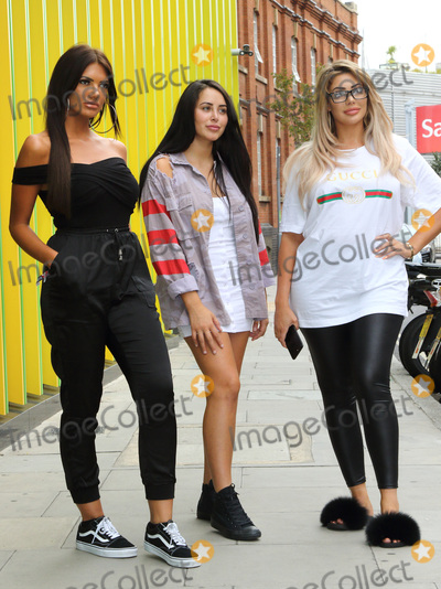 Geordie, Marnie Simpson, Chloe Ferry, Abbie Holborn Photo - London.UK.  Abbie Holborn, Chloe Ferry and Marnie Simpson at
