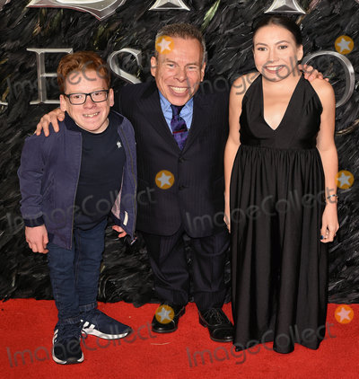 Warwick Davis, Warwick Davies, Annabelle Davis Photo - London, UK. Harrison Davis, Warwick Davis, Annabelle Davis at Maleficent: Mistress Of Evil European Premiere held at BFI Imax, Waterloo on Wednesday  9 October 2019