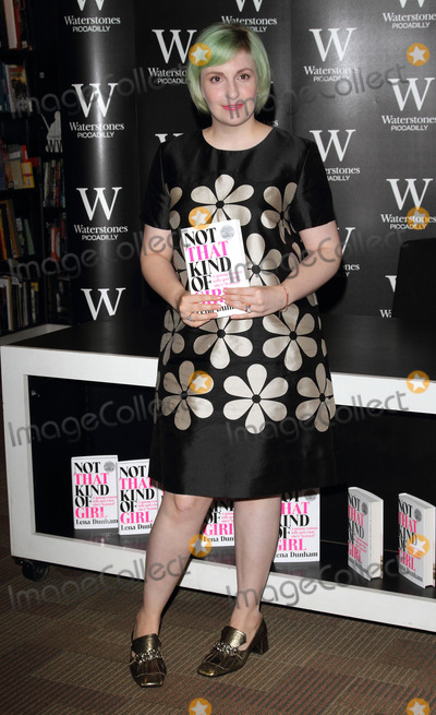 Lena Dunham, Book Signing Photo - London, UK. Lena Dunham at  'Not That Kind of Girl' book signing, at Waterstones, Piccadilly London, Britain. 29th October 2014