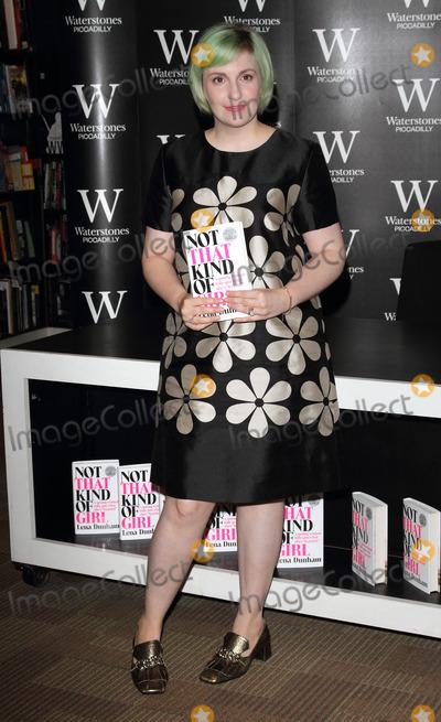 Lena Dunham, Book Signing Photo - London, UK. Lena Dunham at  'Not That Kind of Girl' book signing, at Waterstones, Piccadilly London, Britain. 29th October 2014Ref: LMK73-49939-291014Keith Mayhew/Landmark Media. WWW.LMKMEDIA.COM