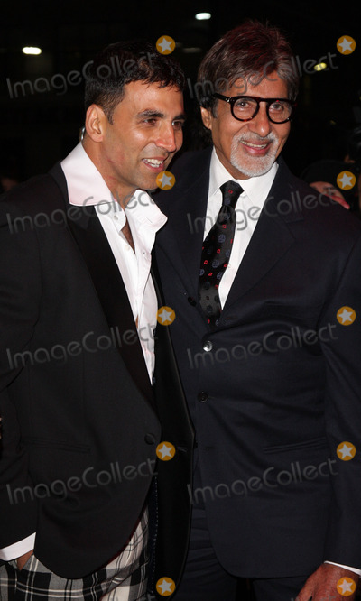 Akshay Kumar, Amitabh Bachchan, Leicester Square Photo - London, UK. Akshay Kumar and Amitabh Bachchan at the premiere of 'Chandni Chowk to China' at the Empire Cinema, Leicester Square.