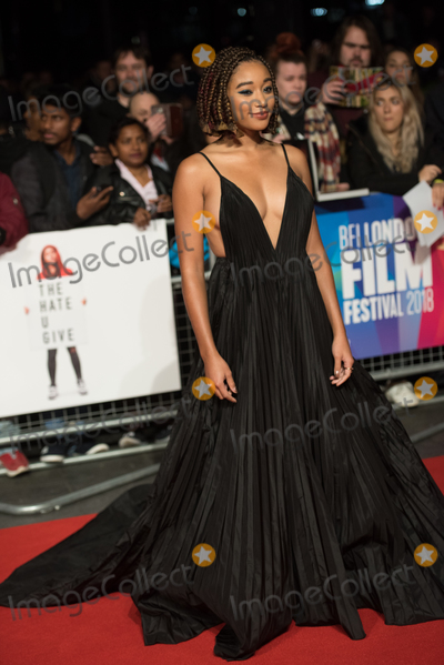 Amandla Stenberg, The Specials, Leicester Square Photo - London. UK.  Amandla Stenberg  at  the Special Presentation and European Premiere of 'The Hate U Give'  at The 62nd BFI London Film Festival at Cineworld, Leicester Square, London, England, UK on Saturday 20 October 2018. Ref:  LMK370-S1696-211018Justin Ng/Landmark MediaWWW.LMKMEDIA.COM