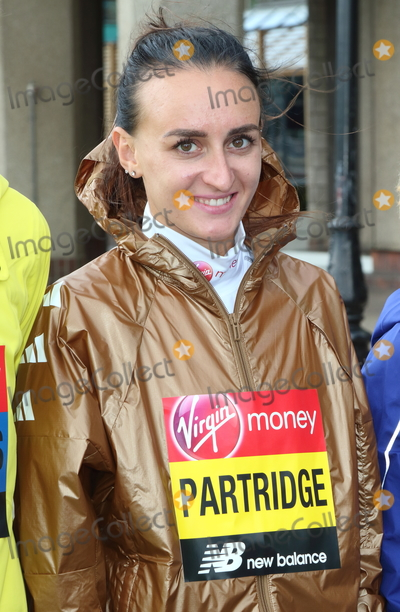 Lily Partridge Photo - London, UK. Lily Partridge at Elite Runners Photocall for the London Marathon 2019 outside the Tower Hotel Race HQ on April 24th 2019Ref: LMK73-4803-250419Keith Mayhew/Landmark MediaWWW.LMKMEDIA.COM