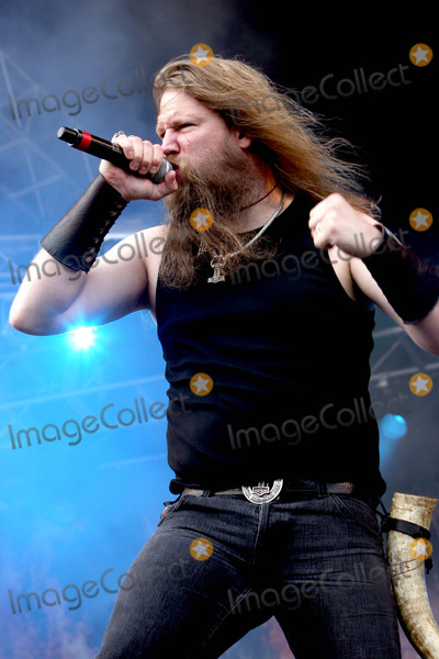 Amon Amarth, Johan Hegg Photo - Catton Hall, Derbyshire, UK. Amon Amarth perform live at Bloodstock Open Air 2009 at Catton Hall. Moonspell are: Johan Hegg, Johan Sderberg, Olavi Mikkonen