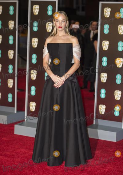 Jennifer Lawrence, Albert Hall Photo - London, UK.  Jennifer Lawrence  at  the EE British Academy Film Awards (BAFTA) held at Royal Albert Hall on February 18, 2018 in London 18th February 2018.Ref: LMK386-S1156-180218Gary Mitchell/Landmark Media. WWW.LMKMEDIA.COM