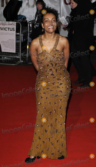 Adjoa Andoh, Leicester Square Photo - London.UK.  Adjoa Andoh at the UK premiere of the film Invictus held at the Odeon West End cinema in Leicester Square.Can Nguyen/Landmark Media