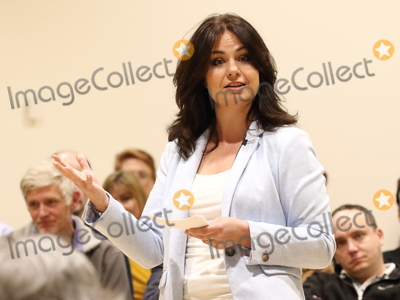 Heidi Allen, Parliament Photo - Cambourne. Cambridgeshire.  Heidi Allen MP addresses a Public Meeting in her constituency of South Cambridgeshire, at Cambourne Village College today.