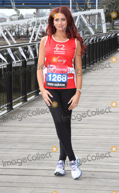 Amy Childs Photo - London. UK.   Amy Childs at the London Marathon 2013 Celebrities Photocall outside the Tower Hotel, London. 17th April  2013Keith Mayhew/Landmark Media