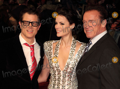 Arnold Schwarzenegger, Jaimie Alexander, Johnny Knoxville, Alexander Arnold Photo - London, UK. Johnny Knoxville, Jaimie Alexander and Arnold Schwarzenegger at the UK Premiere of  'The Last Stand' at the Odeon West End, Leicester Square. 22nd January 2013.Keith Mayhew/Landmark Media