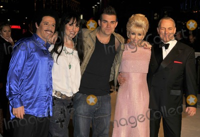Anthony Adams, Cher, Dusty Springfield, Frank Sinatra, Robbie Williams, Tony Lewis, Lionel Ritchie Photo - London. UK.  Performing artists from the BBC TV series 'The One and Only' to find the best musical tribute act in the UK at the UK Premiere of new  film  `The Accidental Husband', in aid of The Fire Service National Benevolent Fund at the Vue West End in Central London.  L-R. Moni Tivony (Lionel Ritchie), Joanna Berns (Cher), Tony Lewis (Robbie Williams), Katy Setterfield (Dusty Springfield) and Anthony Adams (Frank Sinatra) .  13th  February 2008.  Can Nguyen/Landmark Media
