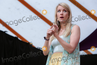 Rachel Parris Photo - Southwold, Suffolk. Comedian and star of BBC2s The Mash Report Rachel Parris performs in the Comedy Arena on the first day of the  2018 Latitude Festival  at Henham Park near Southwold, Suffolk. 13th July 2018