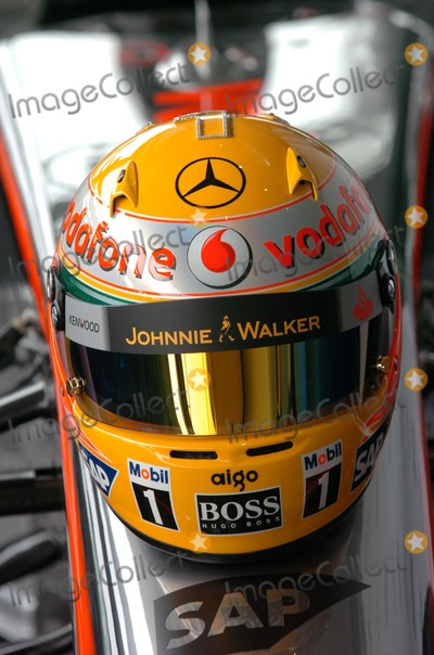 Lewis Hamilton Photo - London.UK.  The helmet Formula One driver Lewis Hamilton will use at the  Monaco Grand Prix on the 24th May 2009. It is inlaid with  diamonds provided by the Forever Diamonds company. 24th May 2009.Andy Lomax/Landmark Media