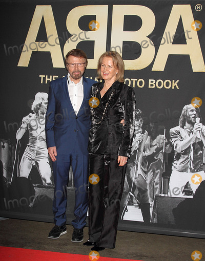 ABBA, Anni Frid Lyngstad, Anni-Frid Lyngstad, Annifrid Lyngstad, Bjrn Ulvaeus, The Interns Photo - London, UK. Bjrn Ulvaeus and Anni-Frid Lyngstad at ABBA  The International Anniversary Party marking the 40th Anniversary of their Eurovision Victory and the launch of 'ABBA  The Official Photo Book at the Tate Modern, London on April 7th 2014.Ref: LMK73-48091-080414Keith Mayhew/Landmark Media. WWW.LMKMEDIA.COM