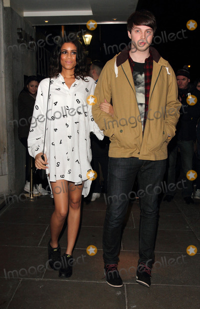 Aluna Francis, Aluna George, Aluna  Francis Photo - London, UK. Aluna Francis and George Reid of AlunaGeorge arriving at the Brit Awards 2013 Nominations Launch at the Savoy Hotel, The Strand, London. January 10th 2013.
