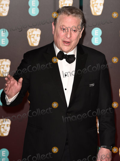 Al Gore, Albert Hall Photo - London, UK. Al Gore at The EE British Academy Film Awards held at The Royal Albert Hall on Sunday 18 February 2018 Ref: LMK392 -J1596-190218Vivienne Vincent/Landmark Media. WWW.LMKMEDIA.COM.