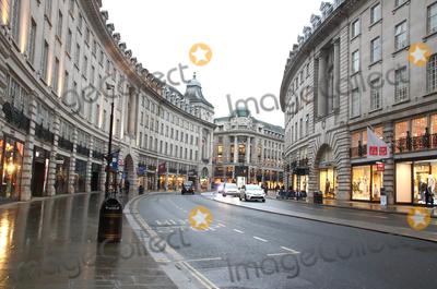 Regent Street Photo - London, UK. Regent Street.Large empty spaces where tourists usually gather and deserted streets around landmarks due to the threat of a further spread of coronavirus -COVID-19  . London 19th March 2020Ref: LMK73-J6378-200320Keith Mayhew/Landmark MediaWWW.LMKMEDIA.COM