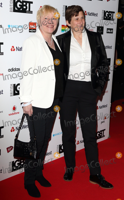 Eagles, Angela Eagle, Anna Maria Perez de Taglé, Covent Garden Photo - London.UK. Labour Party MP Angela Eagle (L) and partner Maria Exall   at the The British LBGT Awards at the Grand Connaught Rooms, Covent Garden, London. 12th May 2017.Ref:LMK73-S235-130417Keith Mayhew/Landmark MediaWWW.LMKMEDIA.COM