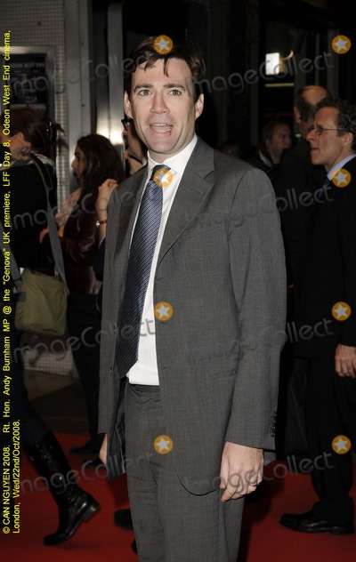 Andy Burnham Photo - London. UK. British Labour party  M.P.  Andy Burnham who is also the Secretary of State for Culture,  Media and Sport at the screening of  new film 'Genova' . Odeon West End. London Film Festival. 22nd October 2008. 