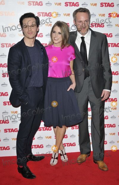 Andrew Scott, Amy Huberman, Peter André, Leicester Square Photo - London. UK. Andrew Scott, Amy Huberman & Peter McDonald   at  the  The Stag  gala film screening, Vue West End cinema, Leicester Square. 13th March  2014 in London, England, UK.