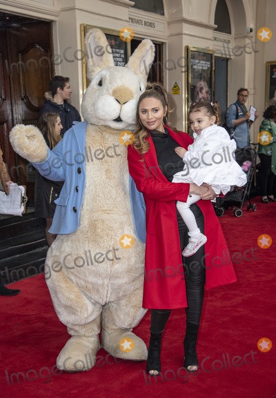 Amy Childs, Peter Rabbit, Gary Mitchell Photo - London.UK.  