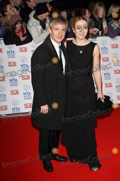 Amanda Abbington, Martin Freeman, The National Photo - London, UK. 230113.Martin Freeman and Amanda Abbington at the National Television Awards held at the O2 Arena in London.23 January 2013.Keith Mayhew/Landmark Media.
