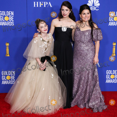 Margaret Qualley, Julia Butters, Margaret Madè Photo - BEVERLY HILLS, LOS ANGELES, CALIFORNIA, USA - JANUARY 05: Julia Butters, Margaret Qualley and Shannon McIntosh pose in the press room at the 77th Annual Golden Globe Awards held at The Beverly Hilton Hotel on January 5, 2020 in Beverly Hills, Los Angeles, California, United States. (Photo by Xavier Collin/Image Press Agency)