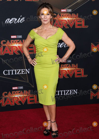 Jennifer Grey Photo - HOLLYWOOD, LOS ANGELES, CA, USA - MARCH 04: Actress Jennifer Grey arrives at the Los Angeles Premiere Of Marvel Studios 'Captain Marvel' held at the El Capitan Theatre on March 4, 2019 in Hollywood, Los Angeles, California, United States. (Photo by David Acosta/Image Press Agency)