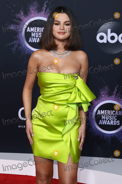 Gomez, Selena Gomez Photo - LOS ANGELES, CALIFORNIA, USA - NOVEMBER 24: Singer Selena Gomez wearing a Versace dress arrives at the 2019 American Music Awards held at Microsoft Theatre L.A. Live on November 24, 2019 in Los Angeles, California, United States. (Photo by Xavier Collin/Image Press Agency)