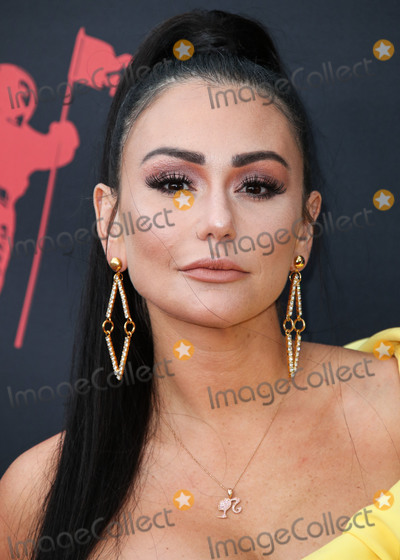 """Jenni """"JWoww"""", Jenni """"JWoww"""" Farley, Jenni 'JWoww', Jenni 'JWoww' Farley, Jenni JWoww, Jenni JWOWW Farley, JWoww, Jenni """"JWoww"""", Jenni """"JWoww"""" Farley Photo - NEWARK, NEW JERSEY, USA - AUGUST 26: Jenni 'JWoww' Farley arrives at the 2019 MTV Video Music Awards held at the Prudential Center on August 26, 2019 in Newark, New Jersey, United States. (Photo by Xavier Collin/Image Press Agency)"""