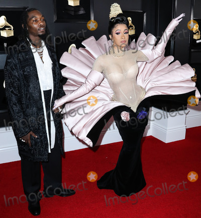 Grammy Awards, Cardi B., Cardi B Photo - (FILE) Cardi B Files for Divorce from Offset After 3 Years of Marriage. LOS ANGELES, CALIFORNIA, USA - FEBRUARY 10: Rapper Offset (Kiari Kendrell Cephus) and wife/rapper Cardi B (Belcalis Marlenis Almanzar) arrive at the 61st Annual GRAMMY Awards held at Staples Center on February 10, 2019 in Los Angeles, California, United States. (Photo by Xavier Collin/Image Press Agency)