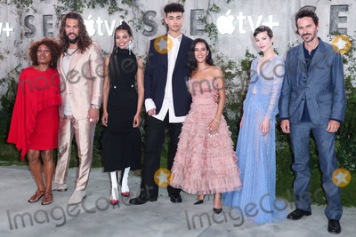Alfre Woodard, Christian Camargo, Jason Momoa, Sylvia Hoeks, Nesta Cooper, Archie Madekwe Photo - WESTWOOD, LOS ANGELES, CALIFORNIA, USA - OCTOBER 21: Alfre Woodard, Jason Momoa, Nesta Cooper, Archie Madekwe, Yadir Guevara-Prip, Sylvia Hoeks and Christian Camargo arrive at the World Premiere Of Apple TV+'s 'See' held at the Fox Village Theater on October 21, 2019 in Westwood, Los Angeles, California, United States. (Photo by Xavier Collin/Image Press Agency)