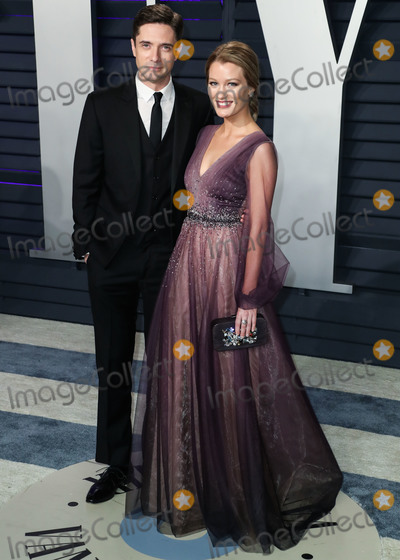 Ashley Hinshaw, Topher Grace, Wallis Annenberg Photo - BEVERLY HILLS, LOS ANGELES, CA, USA - FEBRUARY 24: Actor Topher Grace and wife/actress Ashley Hinshaw arrive at the 2019 Vanity Fair Oscar Party held at the Wallis Annenberg Center for the Performing Arts on February 24, 2019 in Beverly Hills, Los Angeles, California, United States. (Photo by Xavier Collin/Image Press Agency)