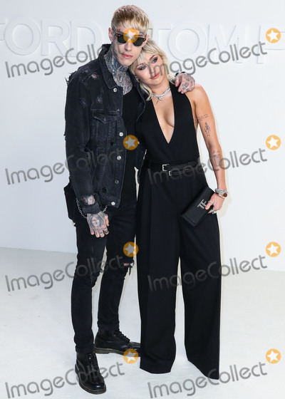 Miley Cyrus, Tom Ford, Trace Cyrus Photo - HOLLYWOOD, LOS ANGELES, CALIFORNIA, USA - FEBRUARY 07: Trace Cyrus and Miley Cyrus arrive at the Tom Ford: Autumn/Winter 2020 Fashion Show held at Milk Studios on February 7, 2020 in Hollywood, Los Angeles, California, United States. (Photo by Xavier Collin/Image Press Agency)