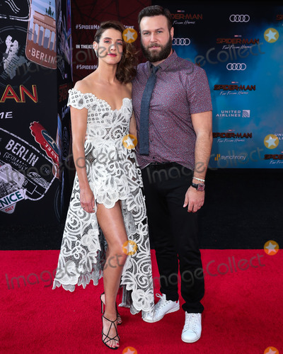 Photos And Pictures Hollywood Los Angeles California Usa June 26 Actress Cobie Smulders And Husband Actor Taran Killam Arrive At The Los Angeles Premiere Of Sony Pictures Spider Man Far From Home
