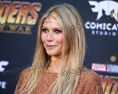 """Benji Madden, Cameron Diaz, Gwyneth Paltrow, Jerry Seinfeld, Jimmy Choo, Robert Downey Jr, Robert Downey Jr., Robert Downey, Jr., Steven Spielberg, TCL Chinese Theatre, Brad Falchuk Photo - (FILE) Gwyneth Paltrow marries producer Brad Falchuk after four years of dating. The actress said """"I do"""" to Brad Falchuk in a private wedding ceremony in the Hamptons on Saturday, September 29, 2018. Stars like Jerry Seinfeld, Steven Spielberg, Cameron Diaz, Benji Madden, and Robert Downey Jr. were in attendance. HOLLYWOOD, LOS ANGELES, CA, USA - APRIL 23: Gwyneth Paltrow wearing a Retrofete dress and Jimmy Choo shoes arrives at the World Premiere Of Disney And Marvel's 'Avengers: Infinity War' held at the El Capitan Theatre, Dolby Theatre and TCL Chinese Theatre IMAX on April 23, 2018 in Hollywood, Los Angeles, California, United States. (Photo by Xavier Collin/Image Press Agency)"""