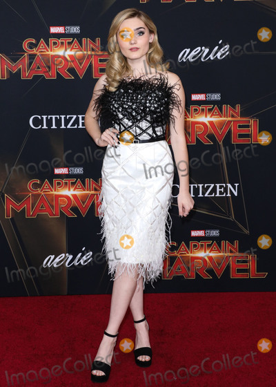Meg Donnelly Photo - HOLLYWOOD, LOS ANGELES, CA, USA - MARCH 04: Actress Meg Donnelly arrives at the Los Angeles Premiere Of Marvel Studios 'Captain Marvel' held at the El Capitan Theatre on March 4, 2019 in Hollywood, Los Angeles, California, United States. (Photo by David Acosta/Image Press Agency)