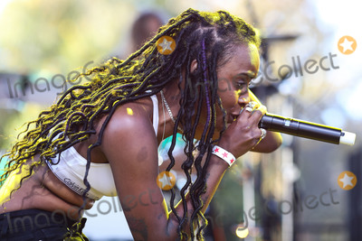 Angel Haze Photo - CALABASAS, LOS ANGELES, CA, USA - DECEMBER 02: Rapper Angel Haze performs onstage at the One Love Malibu Festival Benefit Concert For Woolsey Fire Recovery held at the King Gillette Ranch on December 2, 2018 in Calabasas, Los Angeles, California, United States. (Photo by Xavier Collin/Image Press Agency)