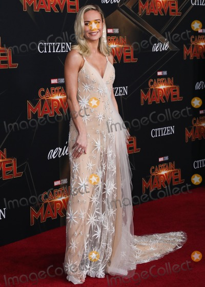 Brie Larson Photo - HOLLYWOOD, LOS ANGELES, CA, USA - MARCH 04: Actress Brie Larson wearing a Rodarte gown and APM Monaco rings arrives at the Los Angeles Premiere Of Marvel Studios 'Captain Marvel' held at the El Capitan Theatre on March 4, 2019 in Hollywood, Los Angeles, California, United States. (Photo by David Acosta/Image Press Agency)