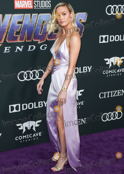 Brie Larson, Walt Disney Photo - LOS ANGELES, CALIFORNIA, USA - APRIL 22: Actress Brie Larson wearing a Celine gown, Louboutin shoes and bag and custom Irene Neuwirth jewelry arrives at the World Premiere Of Walt Disney Studios Motion Pictures and Marvel Studios' 'Avengers: Endgame' held at the Los Angeles Convention Center on April 22, 2019 in Los Angeles, California, United States. (Photo by Xavier Collin/Image Press Agency)