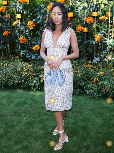 Will Rogers, Aimee Song, Anouk Aimé Photo - PACIFIC PALISADES, LOS ANGELES, CALIFORNIA, USA - OCTOBER 05: Aimee Song arrives at the 10th Annual Veuve Clicquot Polo Classic Los Angeles held at Will Rogers State Historic Park on October 5, 2019 in Pacific Palisades, Los Angeles, California, United States. (Photo by Xavier Collin/Image Press Agency)