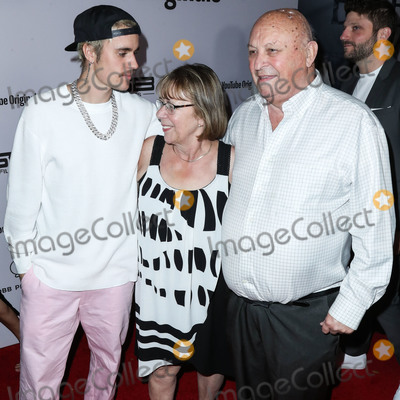 Justin Bieber, Salvador Dalí Photo - WESTWOOD, LOS ANGELES, CALIFORNIA, USA - JANUARY 27: Justin Bieber, Bruce Dale and Diane Dale arrive at the Los Angeles Premiere Of YouTube Originals' 'Justin Bieber: Seasons' held at the Regency Bruin Theatre on January 27, 2020 in Westwood, Los Angeles, California, United States. (Photo by Xavier Collin/Image Press Agency)
