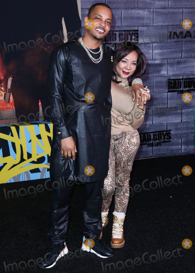 T.I., Tameka Cottle, TI, TCL Chinese Theatre Photo - HOLLYWOOD, LOS ANGELES, CALIFORNIA, USA - JANUARY 14: T.I. and Tameka Cottle arrive at the Los Angeles Premiere Of Columbia Pictures' 'Bad Boys For Life' held at the TCL Chinese Theatre IMAX on January 14, 2020 in Hollywood, Los Angeles, California, United States. (Photo by Xavier Collin/Image Press Agency)