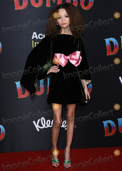 Nico, Ray Dolby, Nico Parker Photo - HOLLYWOOD, LOS ANGELES, CA, USA - MARCH 11: Actress Nico Parker wearing Gucci arrives at the Los Angeles Premiere Of Disney's 'Dumbo' held at The Ray Dolby Ballroom and El Capitan Theatre on March 11, 2019 in Hollywood, Los Angeles, California, United States. (Photo by David Acosta/Image Press Agency)