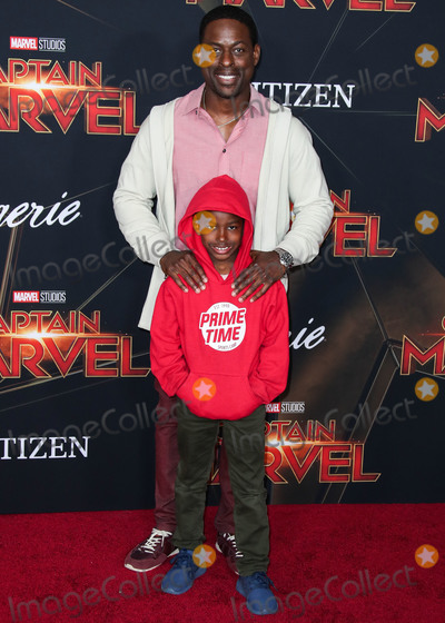 Andrew Brown Photo - HOLLYWOOD, LOS ANGELES, CA, USA - MARCH 04: Actor Sterling K. Brown and son Andrew Brown arrive at the World Premiere Of Marvel Studios 'Captain Marvel' held at the El Capitan Theatre on March 4, 2019 in Hollywood, Los Angeles, California, United States. (Photo by Xavier Collin/Image Press Agency)